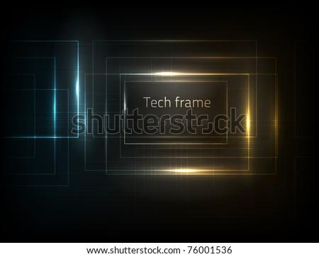 EPS10 vector tech frame - stock vector