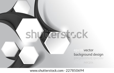 eps10 vector three-dimensional hexagon frames business background - stock vector