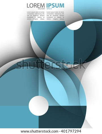 eps10 vector transparent divided round frame abstract design - stock vector