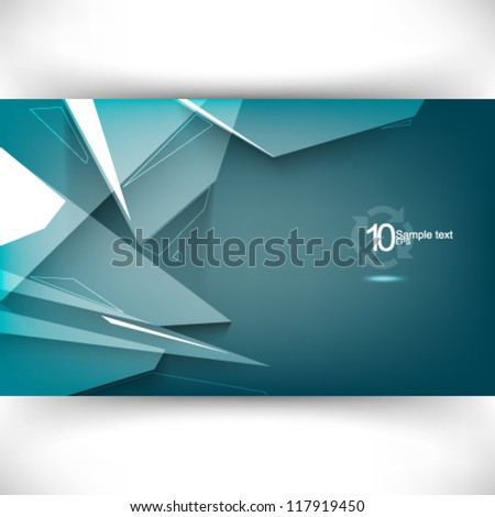 eps10 vector transparent fractal corporate background illustration - stock vector