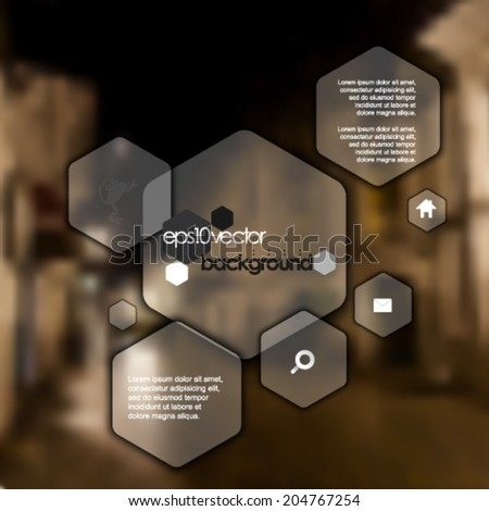 eps10 vector vintage photo-realistic background. hexagon elements - stock vector