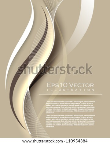 eps10 vector vintage wave elements illustration - stock vector