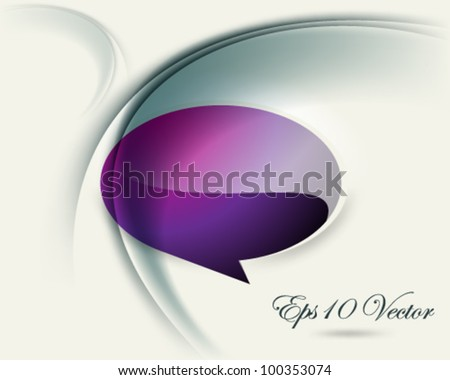 eps10 vector violet colored speech balloon illustration - stock vector