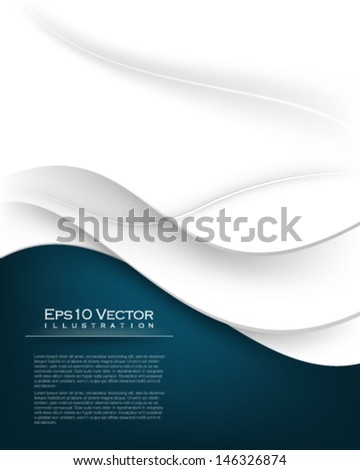 eps10 vector wave elements illustration - stock vector