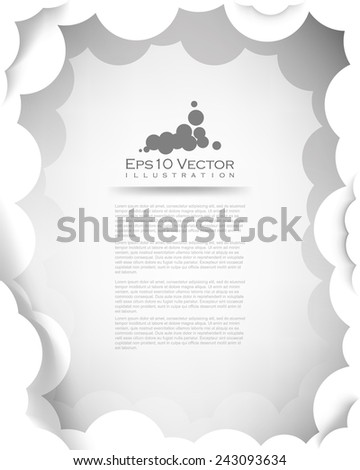 eps10 vector white layered thick clouds illustration