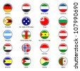 EPS10 Vector World Flag Buttons - Pack 6 - stock photo