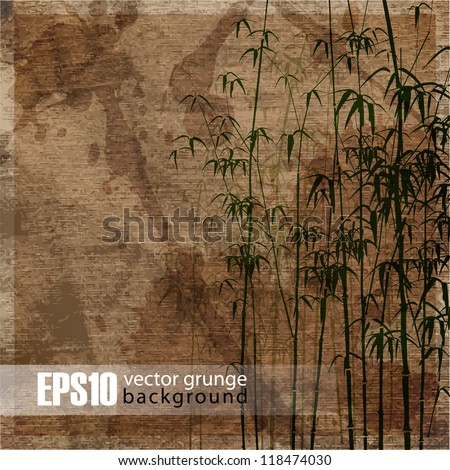 EPS10 vintage bamboo background - stock vector