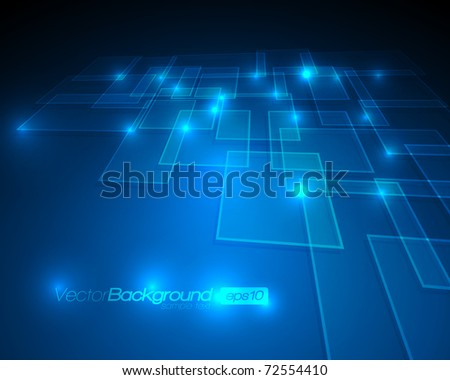 EPS10 - Virtual Technology Vector Background - stock vector
