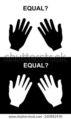 Equal paper hand, paper-paper, paper hand vector - stock vector