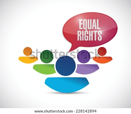 equal rights diversity people illustration design over a white background - stock vector