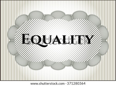 Equality banner or card - stock vector