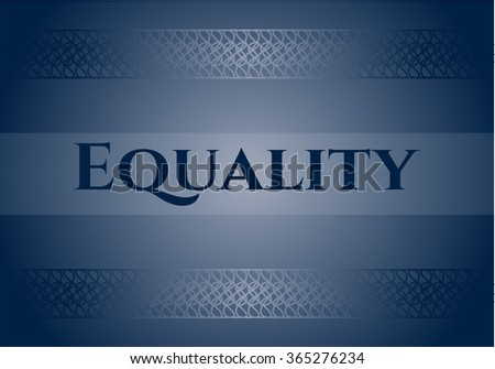 Equality banner or poster - stock vector