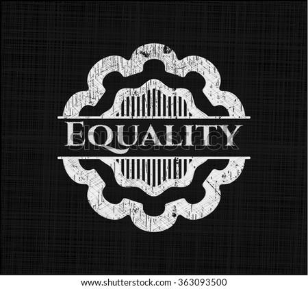 Equality chalkboard emblem - stock vector