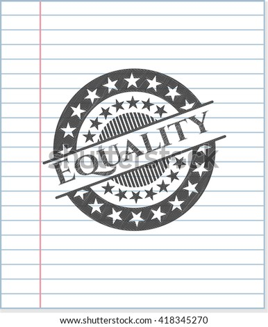 Equality drawn in pencil - stock vector