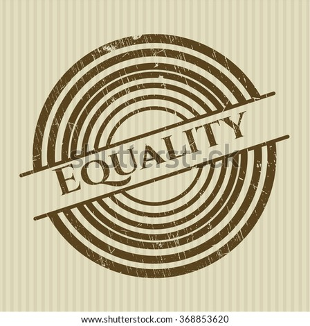 Equality rubber grunge stamp - stock vector