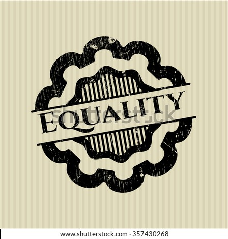Equality rubber stamp with grunge texture - stock vector