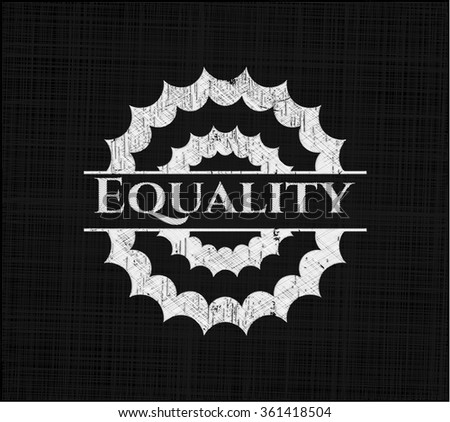 Equality written on a blackboard - stock vector