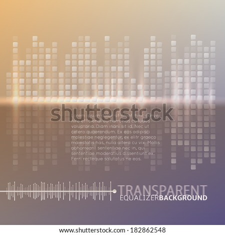 Equalizer background - stock vector