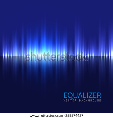 Equalizer background. Vector illustration.