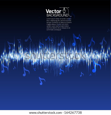 Equalizer music background - stock vector