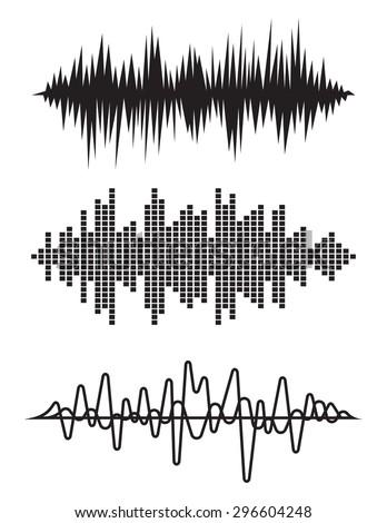 Equalizer pulse heart beats cardiogram vector illustration - stock vector