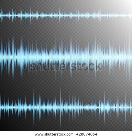 Equalizer, Sound wave, colorful musical bar. Transparent background. EPS 10 vector file included - stock vector