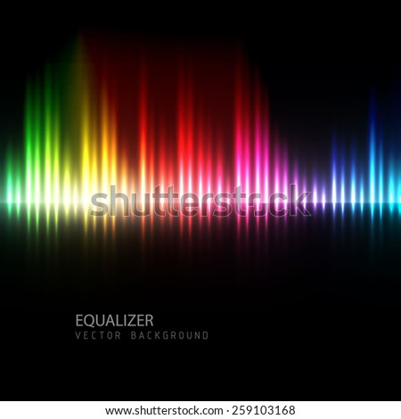 Equalizer spectrum background. Vector illustration. - stock vector