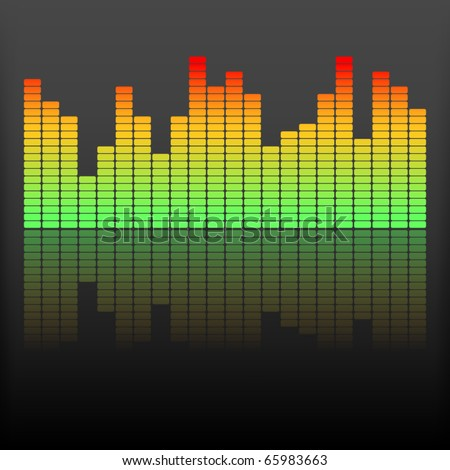 Equalizer vector - stock vector