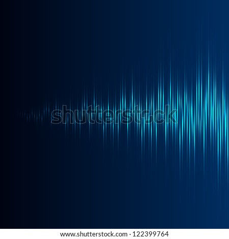 Equalizer with increasing wave - stock vector