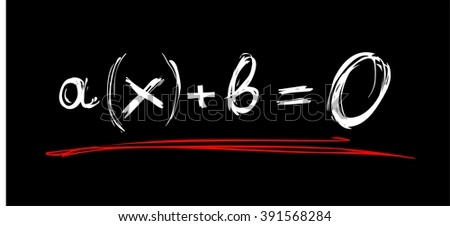Equation - stock vector