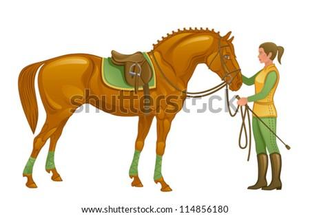 Chestnut / Sorrel Quarter Horse in Western Tack by
