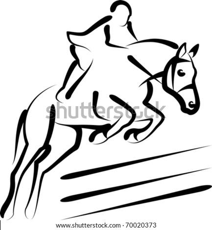 equestrian sport - stock vector
