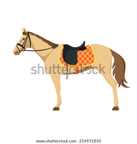 Equestrian sport. Illustration of horse. Vector. Thoroughbred horse. The Sport of Kings