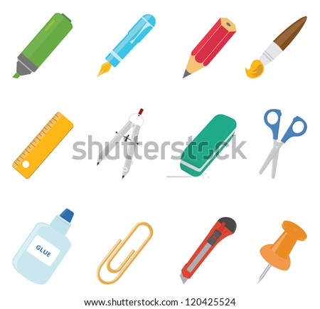 Equipment icons. Vector set - stock vector