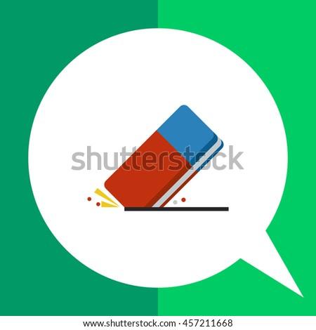 Eraser flat icon - stock vector
