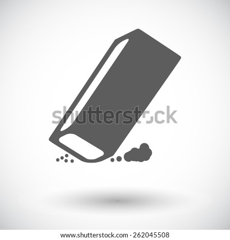 Eraser. Single flat icon on white background. Vector illustration. - stock vector