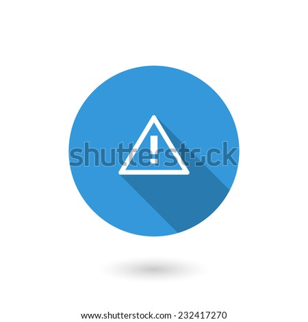 Error icon Warning Sign. Flat icon with long shadow - stock vector