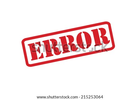 ERROR Rubber Stamp vector over a white background. - stock vector