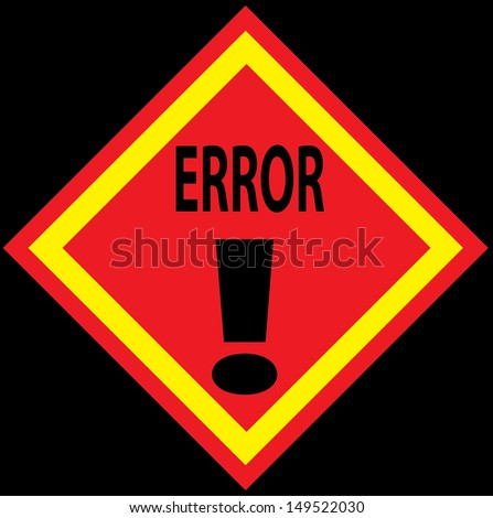 Error Sign. Vector