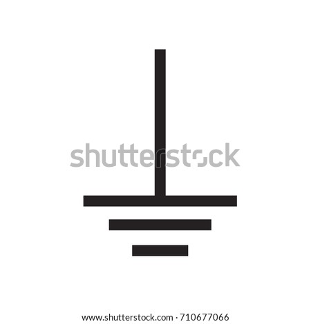 Esd Common Point Ground Symbol Vector Stock Vector 710677066 ...
