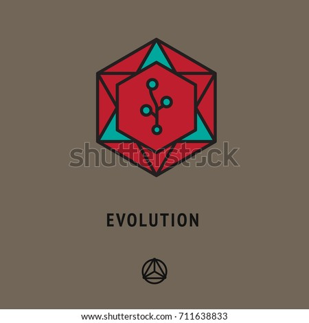 Esoteric Sign Evolution Symbol Prosperity Development Stock Vector