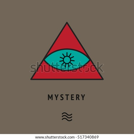 Esoteric Symbol Pyramid Eye Sun Star Stock Vector 2018 517340869
