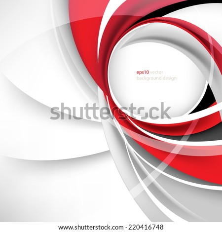 esp10 vector round business frame background - stock vector
