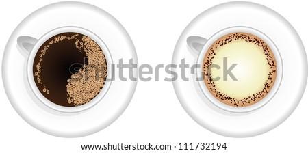 Espresso and Cappuccino coffee cups,vector design,EPS10 - stock vector