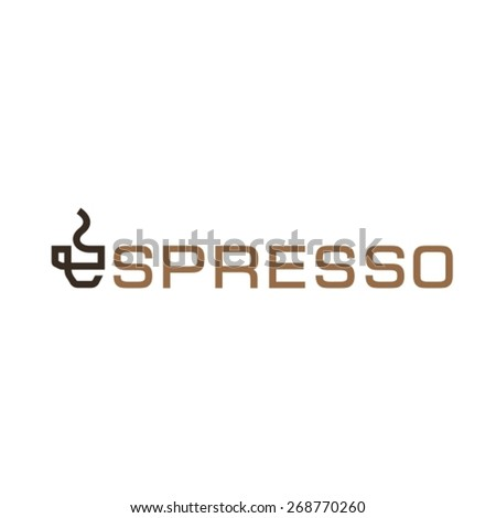 Espresso logo with coffee cup symbol - stock vector