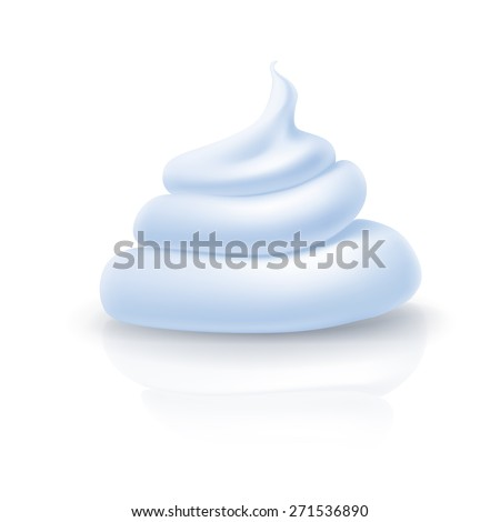 Essence azure cream isolated on a white background - stock vector