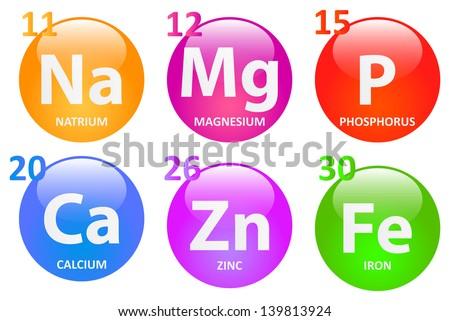 Essential Minerals - stock vector
