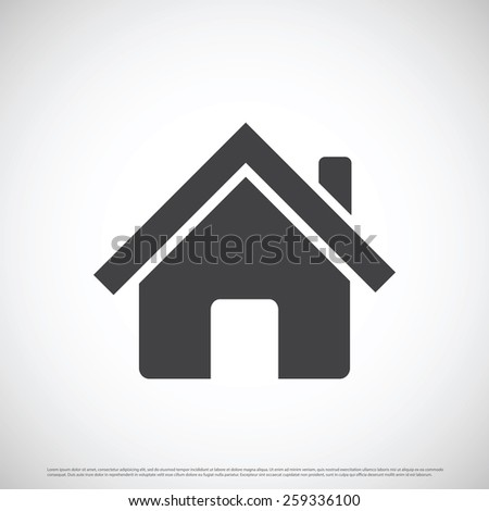 Estate home icon design - stock vector