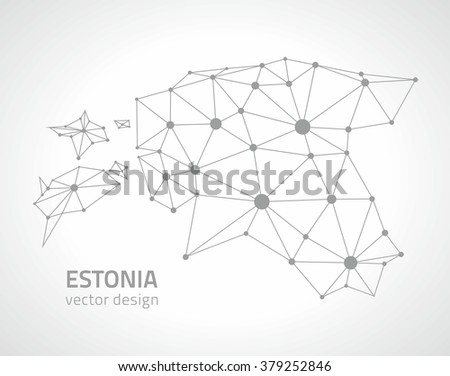 Estonia Contour Map Stock Vector Hd Royalty Free 379252846