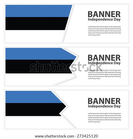 estonia Flag banners collection independence day - stock vector